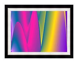 Lora Ashley Rainbow World canvas with modern black frame
