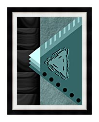 Lora Ashley Plate Tectonics canvas with modern black frame