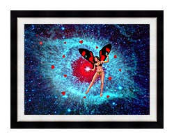 Lora Ashley Fairy Of Hearts canvas with modern black frame