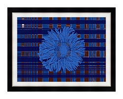 Lora Ashley Blue Floral Tapestry canvas with modern black frame