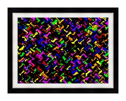 Lora Ashley Contemporary Rainbow Colors canvas with modern black frame