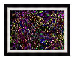 Lora Ashley Rainbow Abstract canvas with modern black frame