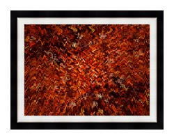 Lora Ashley Autumn Abstract Tapestry canvas with modern black frame