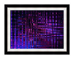 Lora Ashley Pink And Blue Light Show canvas with modern black frame