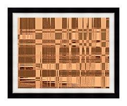 Lora Ashley Contemporary Tan Tapestry canvas with modern black frame