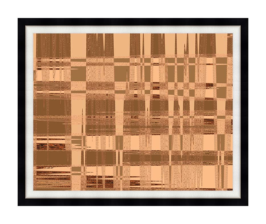 Lora Ashley Contemporary Tan Tapestry with Modern Black Frame