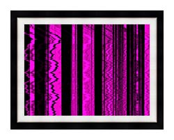 Lora Ashley Contemporary Magenta Abstract canvas with modern black frame