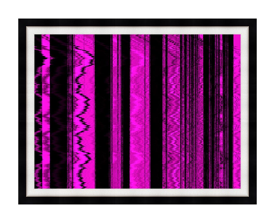 Lora Ashley Contemporary Magenta Abstract with Modern Black Frame