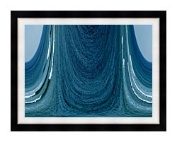 Lora Ashley Contemporary Water World canvas with modern black frame