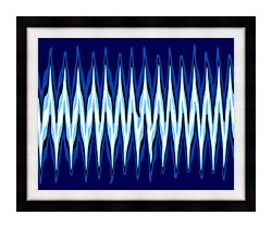 Lora Ashley High Voltage Abstract canvas with modern black frame