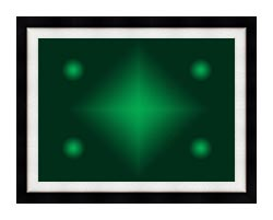 Lora Ashley Green Contemporary canvas with modern black frame