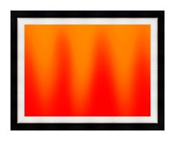 Lora Ashley Red And Orange Contemporary canvas with modern black frame