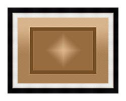 Lora Ashley Brown And Tan Modern canvas with modern black frame
