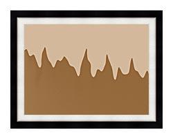 Lora Ashley Modern Chocolate canvas with modern black frame