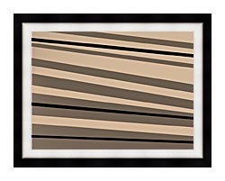 Lora Ashley Contemporary Black And Tan canvas with modern black frame