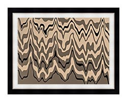 Lora Ashley Modern Black And Tan canvas with modern black frame