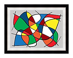 Lora Ashley Abstract canvas with modern black frame
