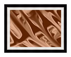 Lora Ashley Chocolate canvas with modern black frame