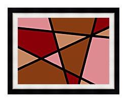 Lora Ashley Earthtone Abstract canvas with modern black frame