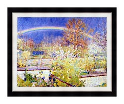 William Blair Bruce The Rainbow canvas with modern black frame