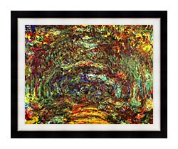 Claude Monet The Path With Rose Trellises Giverny canvas with modern black frame