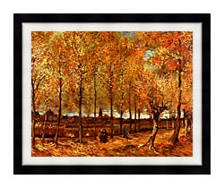 Vincent Van Gogh Lane With Poplars canvas with modern black frame