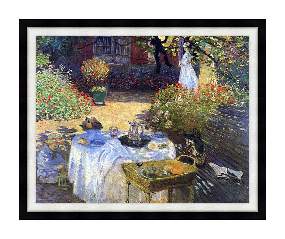 Claude Monet Le Dejeuner with Modern Black Frame