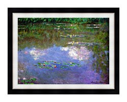 Claude Monet The Cloud canvas with modern black frame