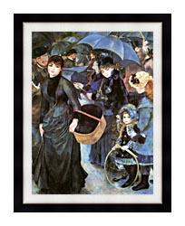 Pierre Auguste Renoir The Umbrellas canvas with modern black frame
