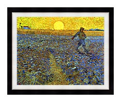 Vincent Van Gogh The Sower canvas with modern black frame