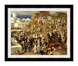 Pierre Auguste Renoir The Mosque Algiers canvas with modern black frame
