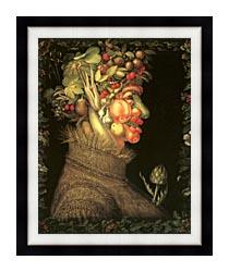 Giuseppe Arcimboldo Summer canvas with modern black frame
