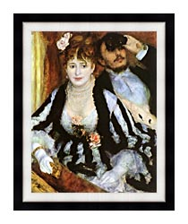 Pierre Auguste Renoir La Loge canvas with modern black frame