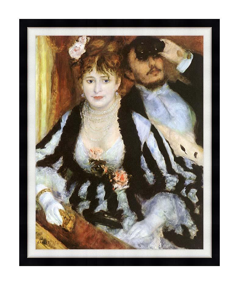 Pierre Auguste Renoir La Loge with Modern Black Frame