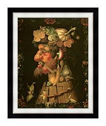 Giuseppe Arcimboldo Autumn canvas with modern black frame