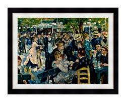 Pierre Auguste Renoir At The Moulin De La Galette canvas with modern black frame