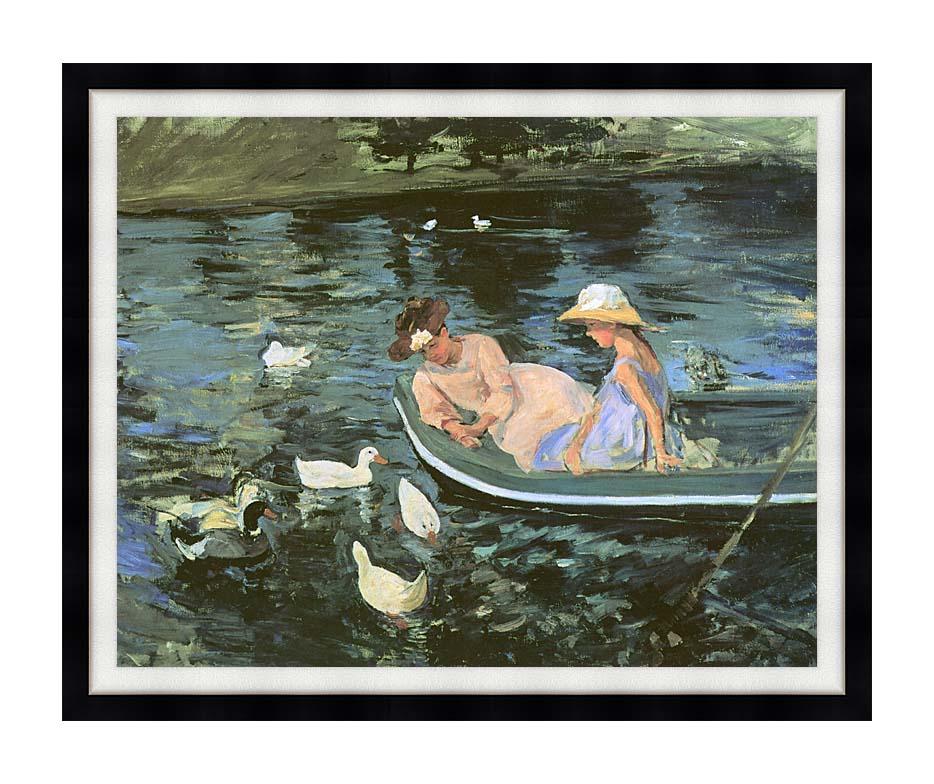 Mary Cassatt Summertime with Modern Black Frame