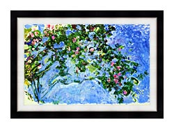 Claude Monet The Roses canvas with modern black frame