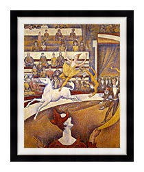 Georges Seurat The Circus canvas with modern black frame