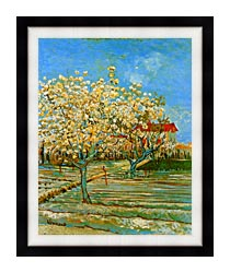 Vincent Van Gogh Orchard In Blossom canvas with modern black frame