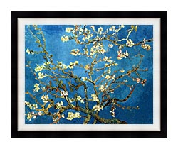 Vincent Van Gogh Almond Blossom canvas with modern black frame