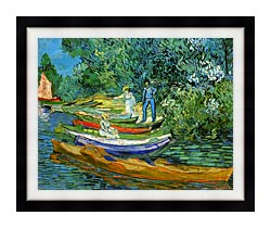 Vincent Van Gogh Bank Of The Oise At Auvers canvas with modern black frame
