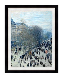 Claude Monet Boulevard Des Capucines canvas with modern black frame