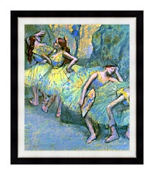Edgar Degas Ballet Dancers In The Wings canvas with modern black frame