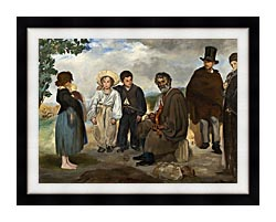Edouard Manet The Old Musician canvas with modern black frame