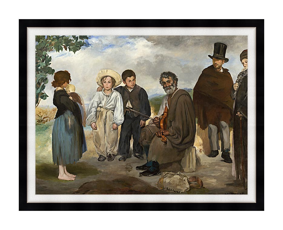 Edouard Manet The Old Musician with Modern Black Frame