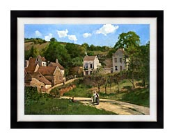 Camille Pissarro The Hermitage At Pontoise canvas with modern black frame