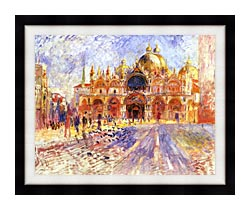 Pierre Auguste Renoir Piazza San Marco Venice canvas with modern black frame