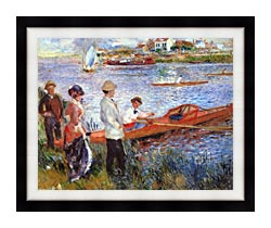 Pierre Auguste Renoir Oarsmen At Chatou canvas with modern black frame