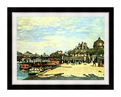 Pierre Auguste Renoir The Pont Des Arts canvas with modern black frame